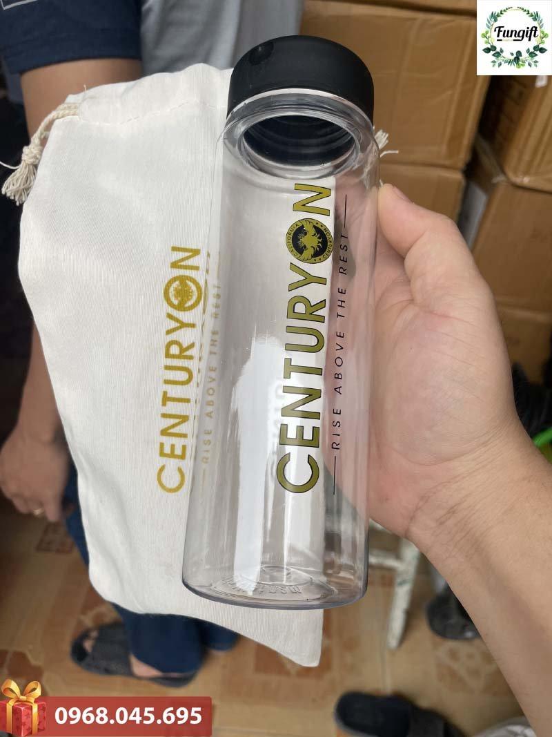Bình nước nhựa in logo theo yêu cầu