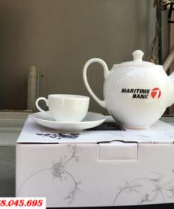 In logo bộ bình trà Maritimebank