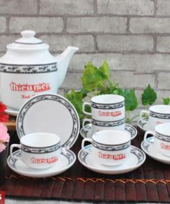 Bộ ấm trà gốm sứ Bát Tràng