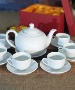 Bộ ấm trà quai lượn