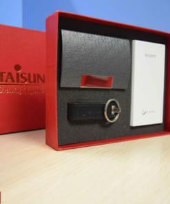 Bộ quà tặng Giftset 14 (Sạc dự phòng + USB da + Ví Namecard)