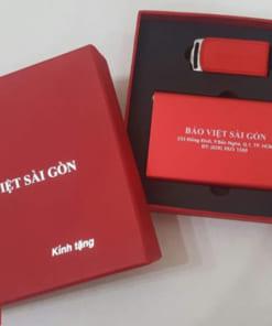 Bộ Quà Tặng GiftSet 18 (Sạc dự phòng + USB da)