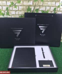 Bộ quà tặng Giftset 3 (Sổ Da + Bút Ký + Ví Namecard)