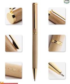 Bút vỏ gỗ khắc chữ