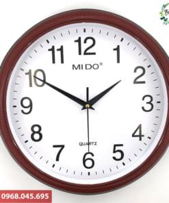 Đồng hồ tròn in logo công ty