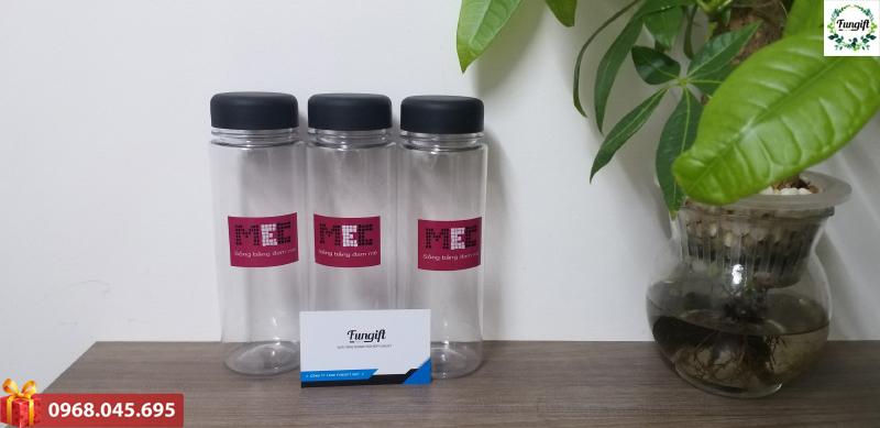 Bình nhựa đựng nước in logo tại Hà Nội
