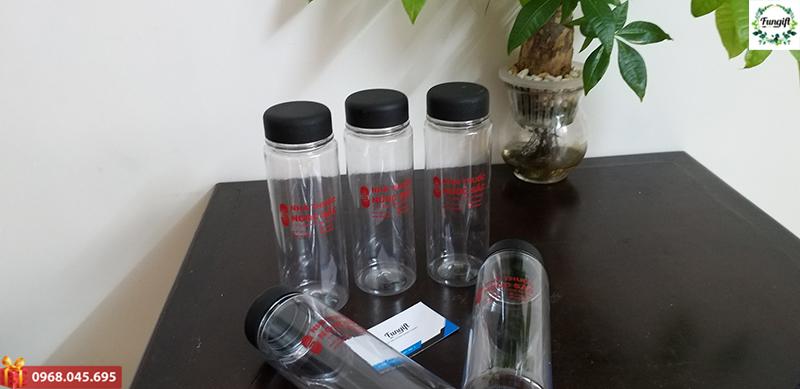 Bình nhựa in logo nhà thuốc Ngọc Sắc
