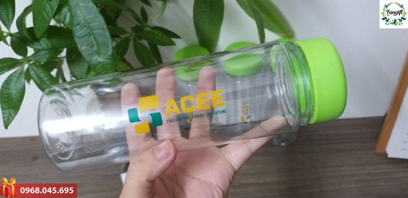 Bình nhựa in logo Acee giá rẻ