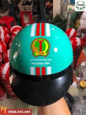 In logo lên mũ bảo hiểm