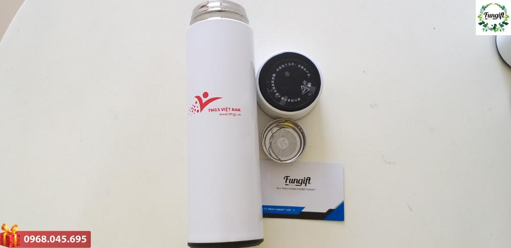 Bình nắp nhiệt độ logo TMGS cao cấp