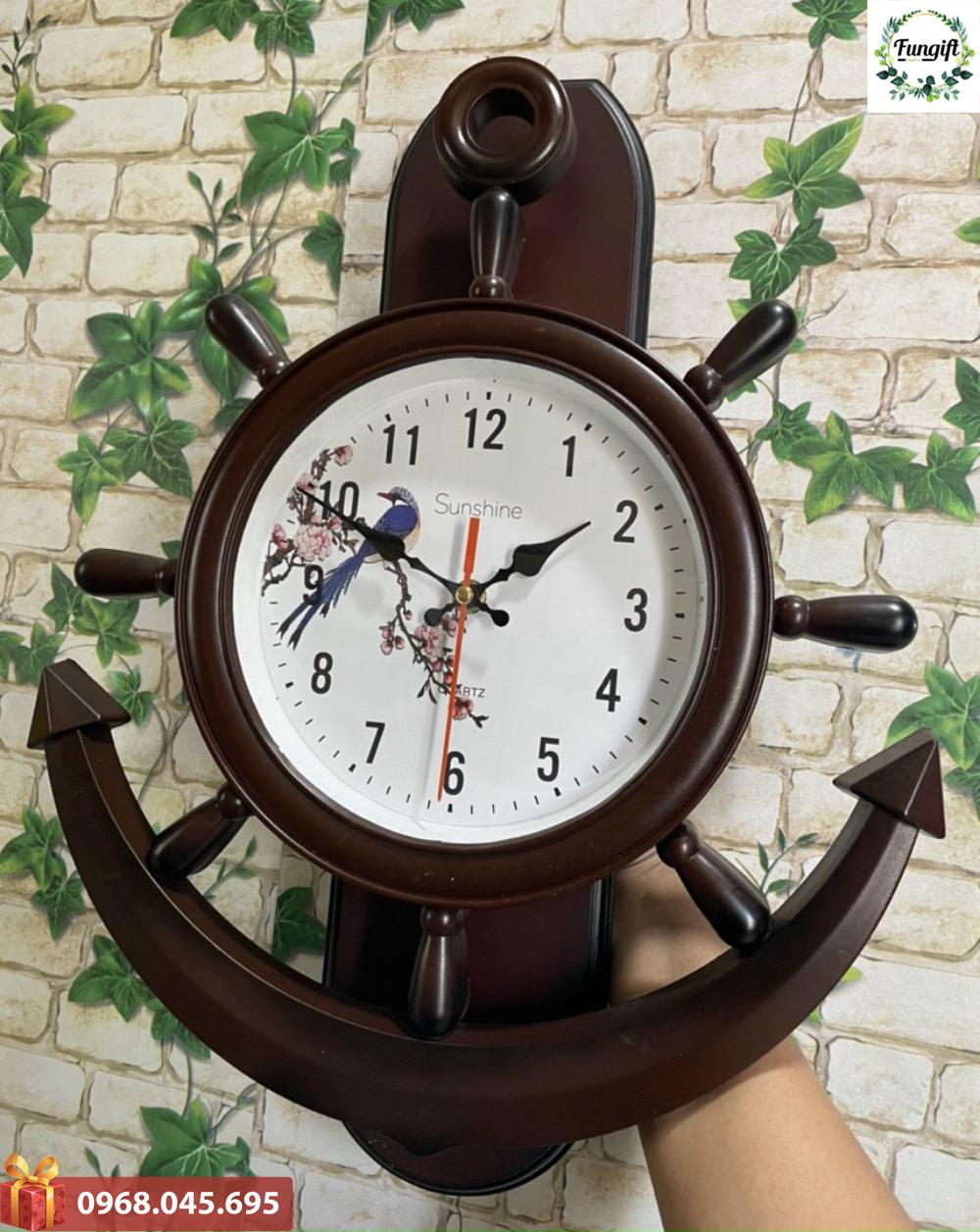 Đồng hồ treo tường in logo Hà Nội