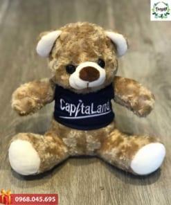 Gấu bông thêu logo