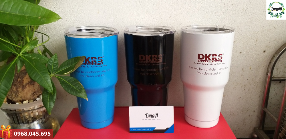 In logo DKRS lên cốc giữ nhiệt quà tặng
