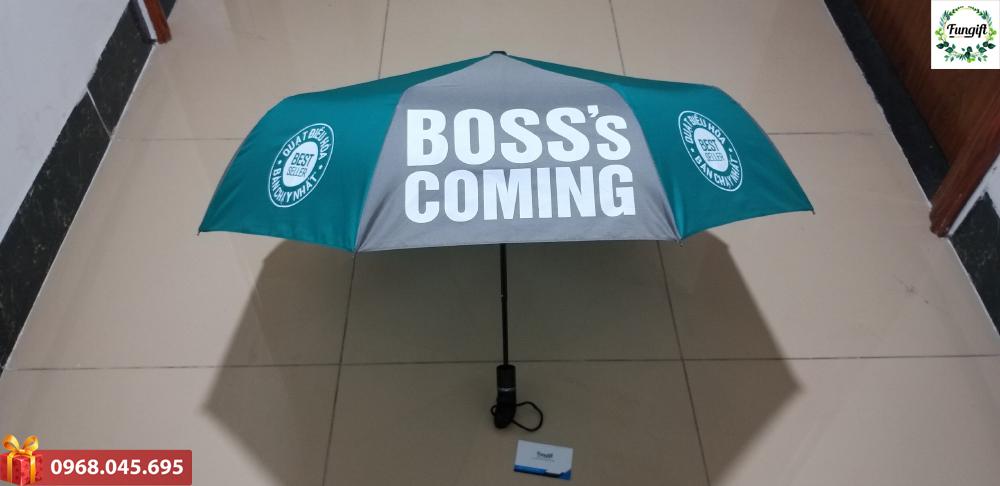 Ô gấp 3 tự động 1 chiều in logo Boss