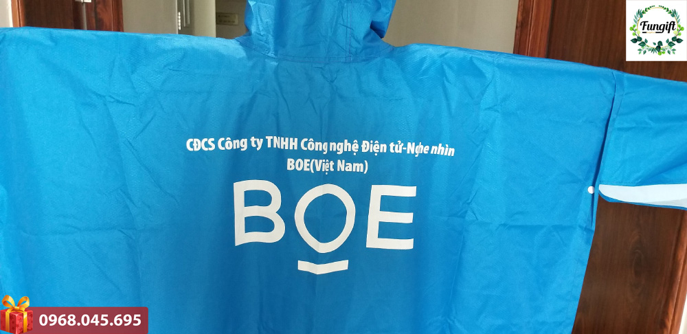 Áo mưa in logo BOE