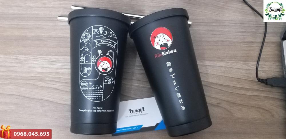 Cốc giữ nhiệt quà tặng in logo thương hiệu