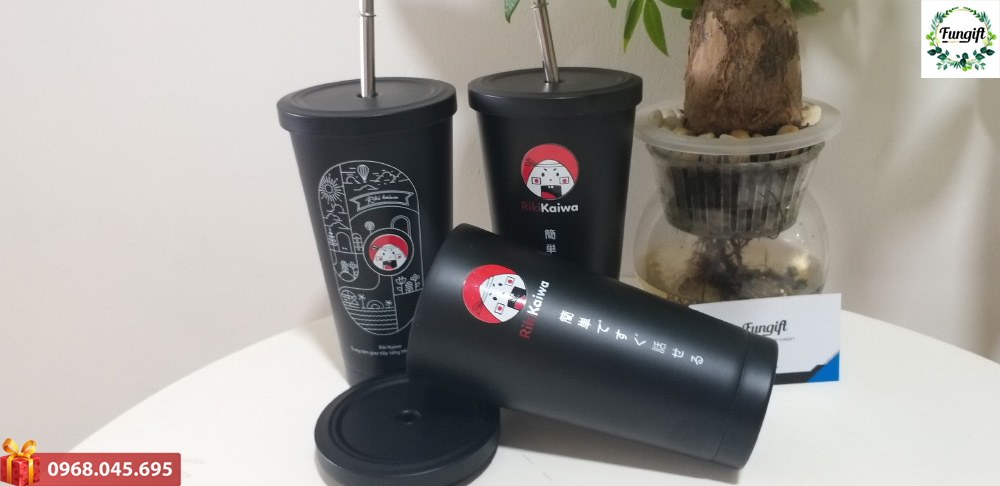 Ly giữ nhiệt 500ml in logo