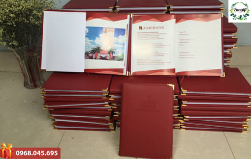 Sản xuất sổ da quà tặng theo yêu cầu