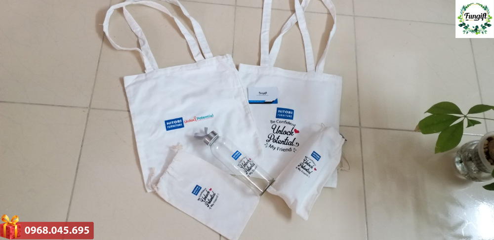 Túi vải canvas in logo quà tặng