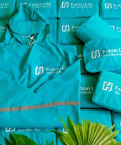 Áo mưa in logo Fubon Life