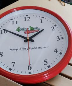 Đồng hồ in logo treo tường