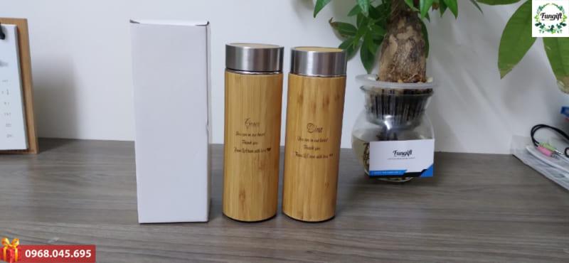 Bình giữ nhiệt gỗ tre