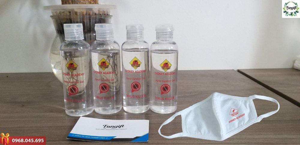 Bộ quà tặng nước rửa tay + khẩu trang