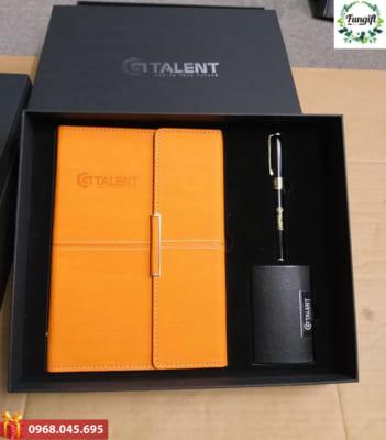 Bộ quà tặng 3 món in logo Talent