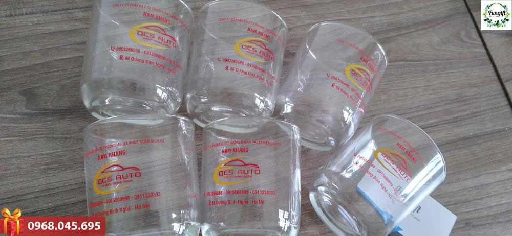 Xưởng in logo cốc thủy tinh giá rẻ