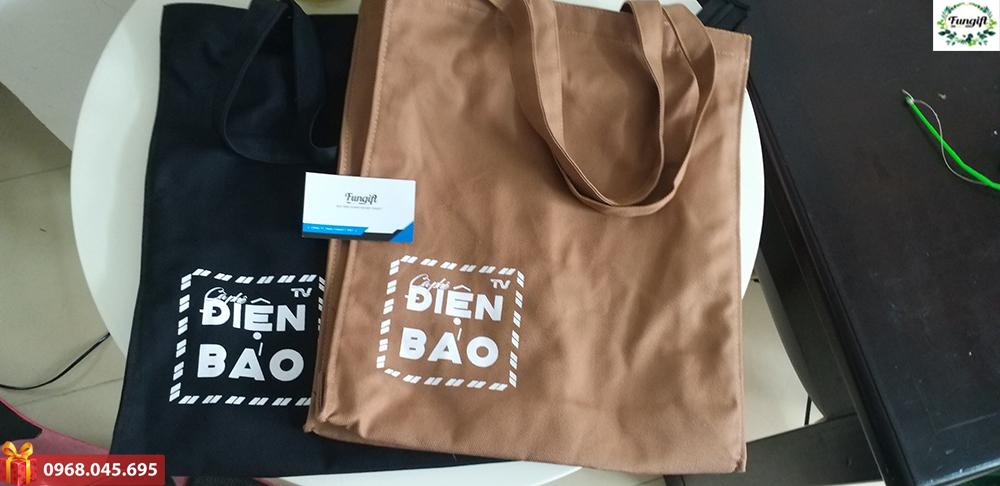 Túi vải in logo Điện Báo