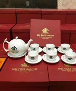 In logo lên bộ ấm trà theo yêu cầu